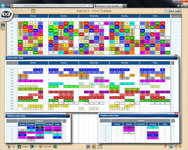 School Timetables Software School Timetable Extra View